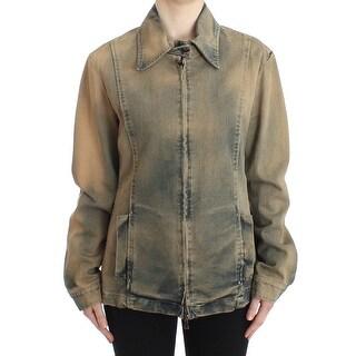 GF Ferre GF Ferre Blue Jeans Denim Short Jacket Coat Blazer - XxL