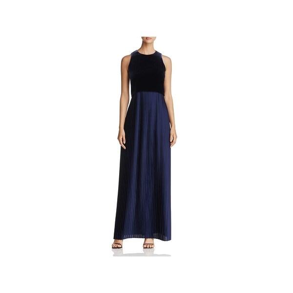 Shop Lafayette 148 New York Womens Evening Dress Velvet Top Pleated