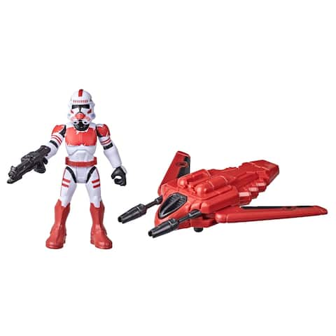 Star Wars Mission Fleet Gear Class Shock Trooper Secure The City 2.5-Inch-Scale Figure And Vehicle, Kids Ages 4 And Up
