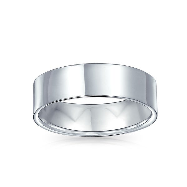 925 Sterling Silver Womens Mens 3mm Flat Wedding Band Ring