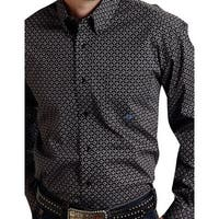 Roper Western Shirt Mens L/S Button Down Black