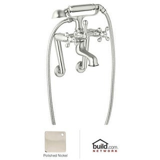 Rohl AC7X Cisal Exposed Tub Filler with Hand Shower and Metal Cross Handles less Unions