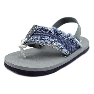 Nursery Rhyme 28881 Infant Open Toe Canvas Blue Flip Flop Sandal
