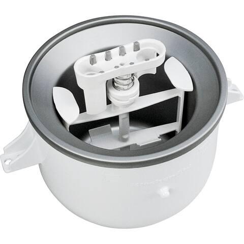 KitchenAid KICA0WH Ice Cream Maker Attachment for KitchenAid Stand Mixers, White