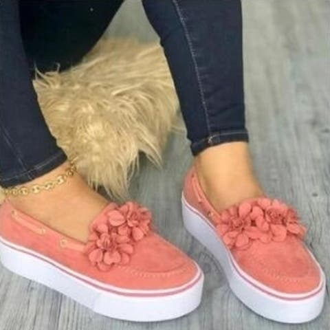 Platform Slip On Loafers Sneakers