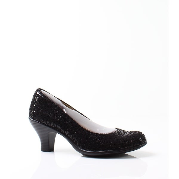 Softspots NEW Deep Black Salude Shoes Size 6M Pumps Suede Heels