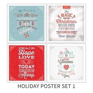 Holiday Poster Set 1 Holiday Poster Set Matte Poster 18x18