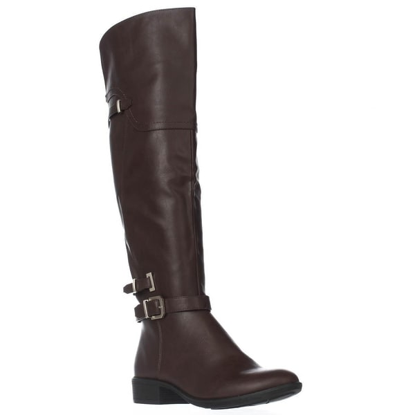 SC35 Adaline Knee High Riding Boots, Cognac