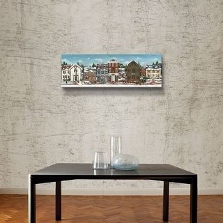 Artwall David Carter Brown Christmas Village Crop Gallery Wrapped Canvas Blue Overstock 20598083