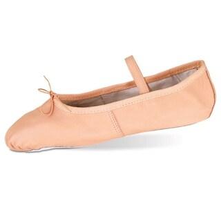 Danshuz Womens Pink Deluxe Leather Sole Cushion Ballet Shoe 3.5-10