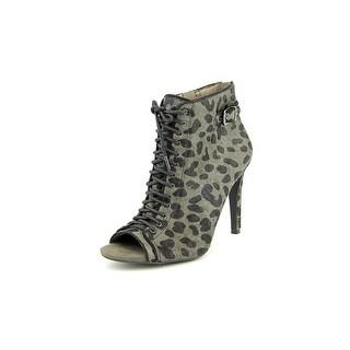 Jessica Simpson Erlene2 Peep-Toe Suede Ankle Boot