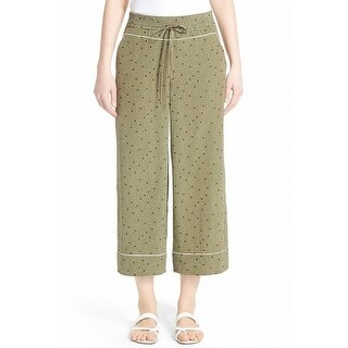 Lafayette 148 New York NEW Green Womens Size Medium M Silk Print Pants