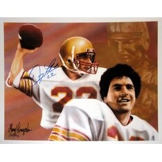 Doug Flutie signed Boston College 11X14 Photo Dual Sig Heisman