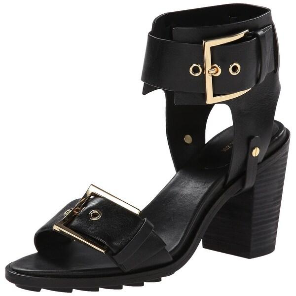 Rachel Zoe NEW Black Shoes Size 5.5M Reeve Pumps Leather Heels
