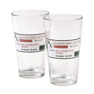 Prescription Pint Glasses - - 16 Oz. - Set Of 2