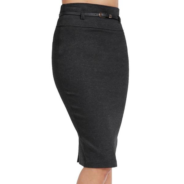 834028842 Shop NE PEOPLE Womens Knee Length Office Pencil Skirts with Belt ...