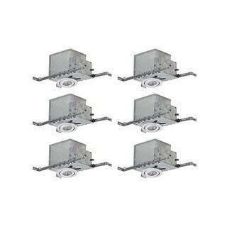 Canarm RI4NC2TG-6 Medium (E26) Adjustable Recessed Trim and New Construction Housing - Pack of 6