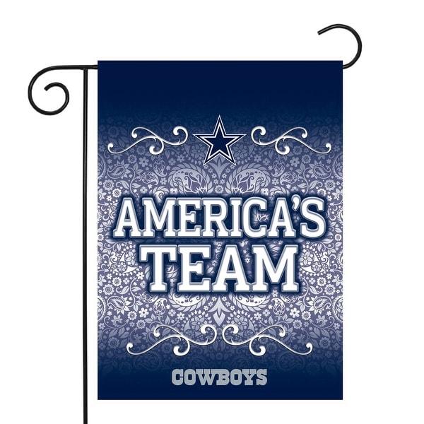 "18"" x 13"" Blue and White NFL Dallas Cowboys Outdoor Garden Flag - N/A"