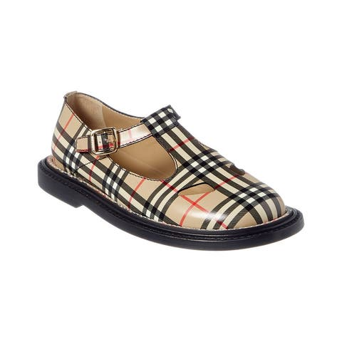 Burberry Vintage Check Leather T-Bar Shoe