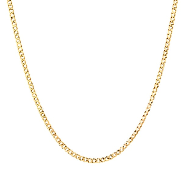 Mcs Jewelry Inc  10 KARAT YELLOW GOLD HOLLOW CURB LINK NECKLACE (3MM)