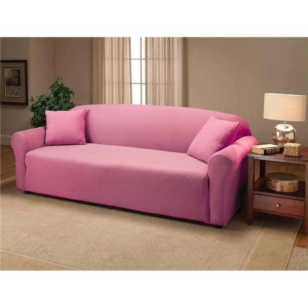 Madison Jer Sofa Pk Stretch Jersey Slipcover Pink Free Shipping On Orders Over 45 24875056