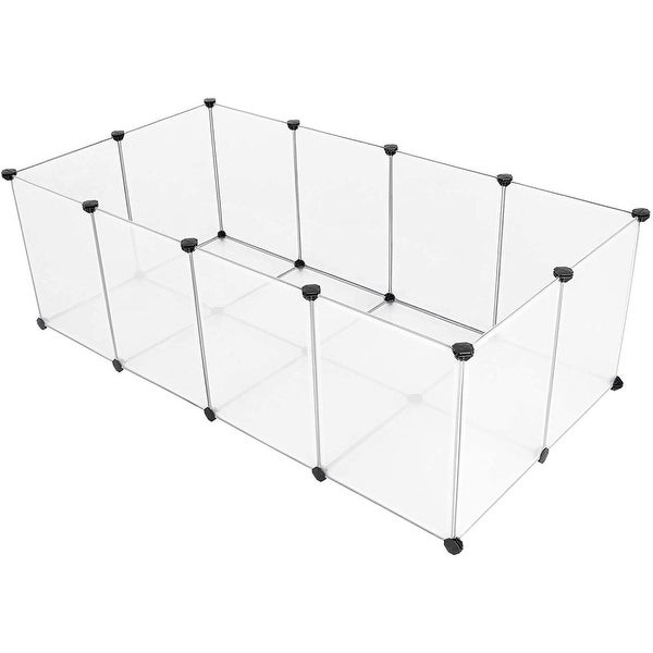 Pet Playpen Fence Cage with Bottom for Small Animals Guinea Pigs, Hamsters, Bunnies, Rabbits. Opens flyout.