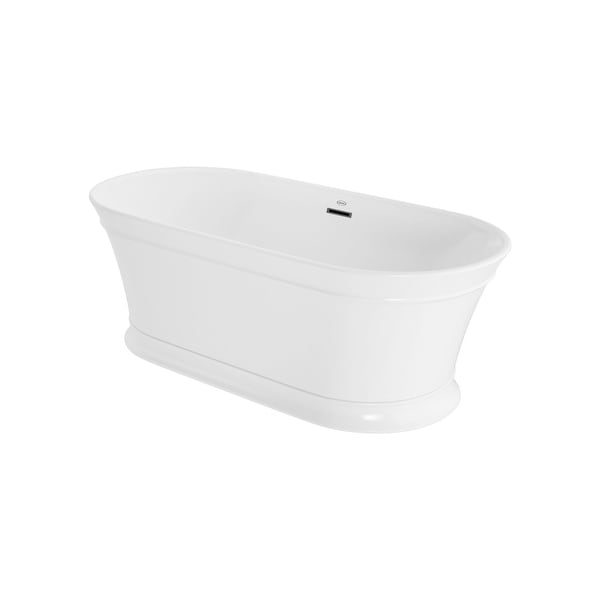 "Jacuzzi LDF6731BCXXXX Lyndsay 67"" Free Standing Acrylic Soaking Tub with Center Drain, Drain Assembly and Overflow"