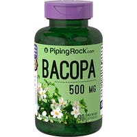 Piping Rock Bacopa 500 mg 90 Quick Release Capsules Herbal Supplement - green - 5 x 2 x 2