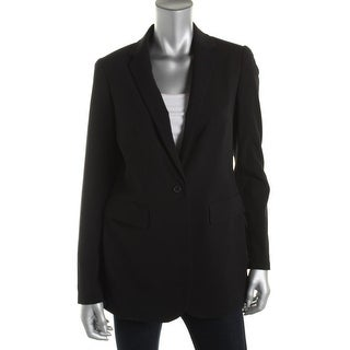 Anne Klein Womens Notch Collar Lined One-Button Blazer