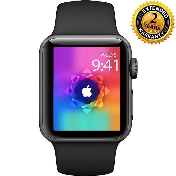 6e01a5f6cb7d Apple Watch Series 3 38mm Smartwatch (GPS Only, Space Gray Aluminum Case,  Black