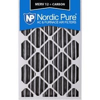 Nordic Pure 18x24x4 Pleated MERV 12 Plus Carbon AC Furnace Filter Qty 1