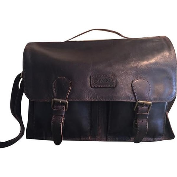 6283514906f1 Shop SHARO Genuine Leather Bags Women s Soft Leather Laptop Computer Messenger  Bag Brief Dark Chocolate Brown - On Sale - Free Shipping Today - Overstock  - ...