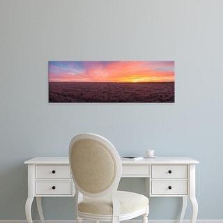 Easy Art Prints Panoramic Image 'Clouds over landscape at sunrise, Prairie Ridge Natural Area, Illinois' Canvas Art