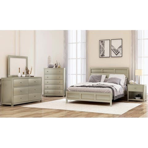 Merax Classic Chatham Platinum Silver 3 Piece Bedroom Set