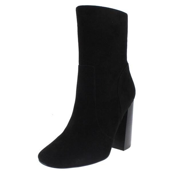 Steve Madden Womens Eldon Mid-Calf Boots Suede Stacked Heel