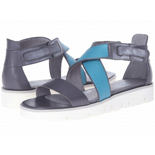 Tsubo NEW Gray Blue Shoes Size 7M Strappy Eliah Leather Sandals
