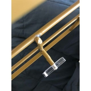 Modern 32 x 8 Inch Gold Iron Rectangular Wall Hook Rack by Studio 350