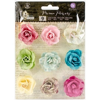"Garden Fable Mulberry Paper Flowers 9/Pkg-Spring .85"" To 1"" - spring .85"" to 1"""