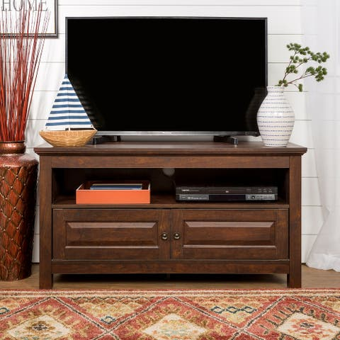 Castalia 44-inch Traditional Brown 2-Door TV Stand Console