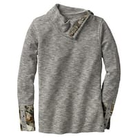 Legendary Whitetails Ladies Hardwoods Camo Button-Neck Thermal