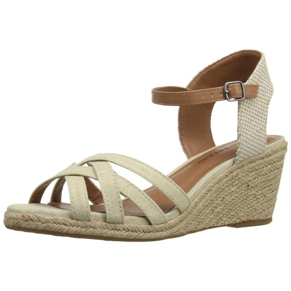 Lucky Brand Womens Kalley Fabric Open Toe Casual Espadrille Sandals