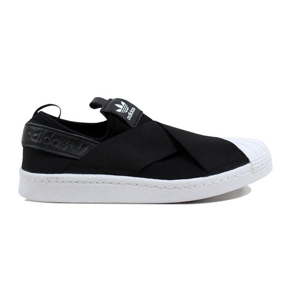 Shop Adidas Women's Superstar Slip On W BlackBlack White