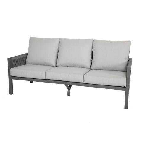 Ramona Outdoor Aluminum Sofa with Cushion