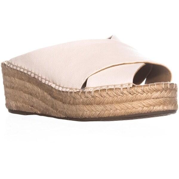 Franco Sarto Polina Espadrille Wedge Sandals, Milk Leather