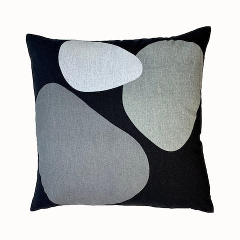 Jiti Bubble Screen Printed Modern Abstract Linen Throw Pillow