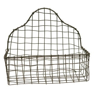 Tall Back Wire Metal Basket 11 Inch Kitchen Bath Natural Finish