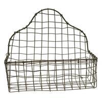 Tall Back Wire Metal Basket 11 Inch Kitchen Bath Natural Finish