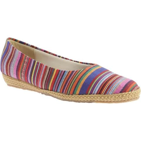 Beacon Shoes Women's Phoenix Rainbow Guatemalan Stripe Canvas