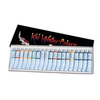 Sakura Koi Non-Toxic Professional Watercolor Pigment Set, Assorted Colors, Set of 18
