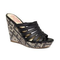 Kenneth Cole Unlisted Womens First Choice Wedge Sandals - Black